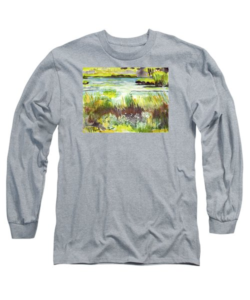 Pond And Plants Long Sleeve T-Shirt