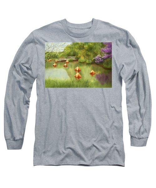 Pond At Olbrich Botanical Garden Long Sleeve T-Shirt