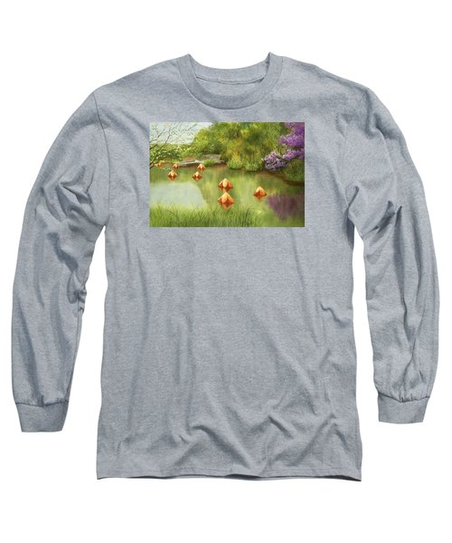 Pond At Olbrich Botanical Garden Long Sleeve T-Shirt
