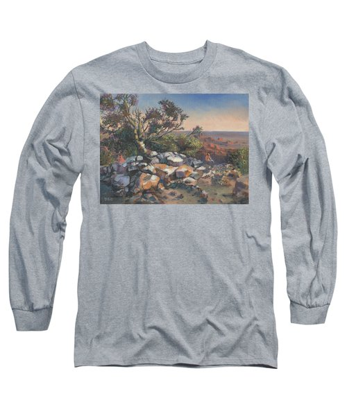 Pondering By The Canyon Long Sleeve T-Shirt