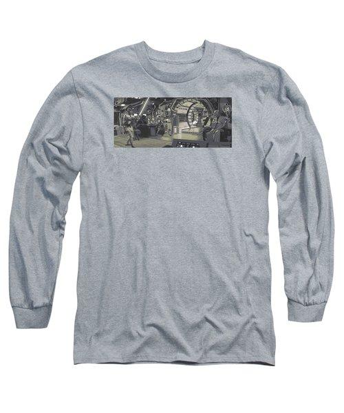 Pondering Chewie's Next Move Long Sleeve T-Shirt by Kurt Ramschissel