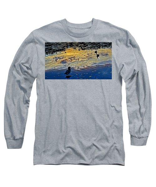 Pondscape Long Sleeve T-Shirt by Jeffrey Friedkin