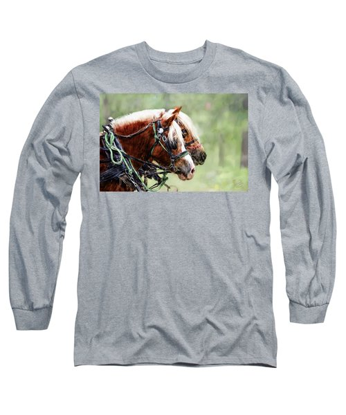 Ponies In Harness Long Sleeve T-Shirt
