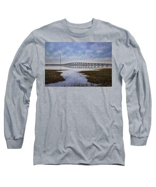 Ponquogue Bridge Hampton Bays Ny Long Sleeve T-Shirt
