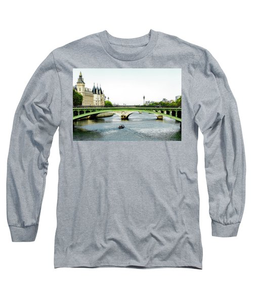 Pont Au Change Over The Seine River In Paris Long Sleeve T-Shirt