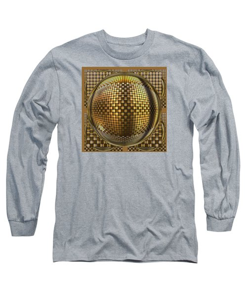 Pop Art Circles Long Sleeve T-Shirt by Mario Carini