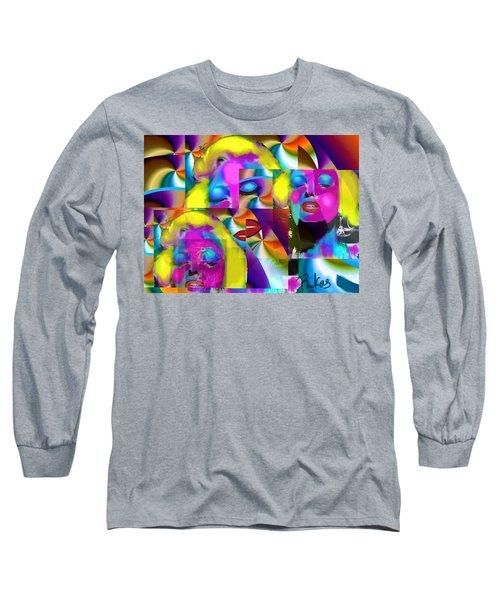 Pop Cubist Marilyn Long Sleeve T-Shirt