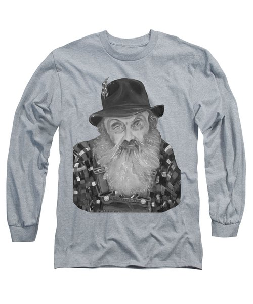 Popcorn Sutton Moonshiner Bust - T-shirt Transparent B And  W Long Sleeve T-Shirt by Jan Dappen