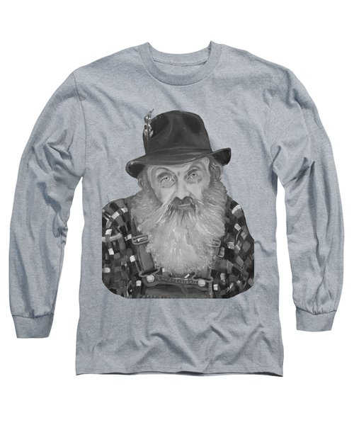 Popcorn Sutton Moonshiner Bust - T-shirt Transparent B And  W Long Sleeve T-Shirt