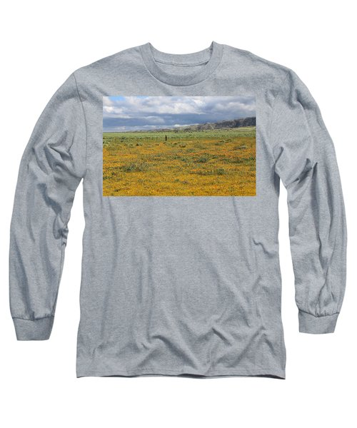 Long Sleeve T-Shirt featuring the photograph Poppies Field In Antelope Valley by Viktor Savchenko