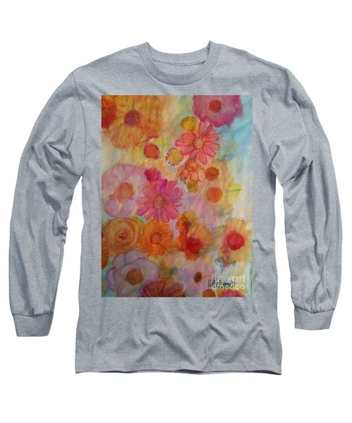 Popping Long Sleeve T-Shirt by Kim Nelson