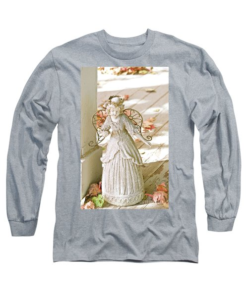 Porch Angel In The Fall Long Sleeve T-Shirt