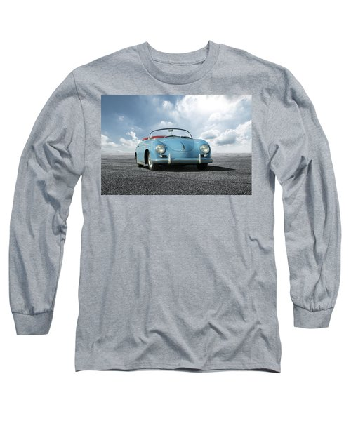 Long Sleeve T-Shirt featuring the digital art Porsche 356 Speedster by Peter Chilelli