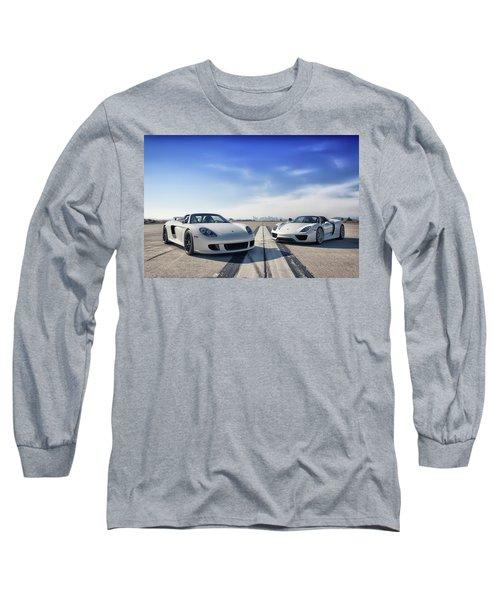 Long Sleeve T-Shirt featuring the photograph #porsche #carreragt And #918spyder by ItzKirb Photography