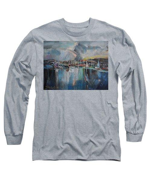 Port At Dusk II Long Sleeve T-Shirt
