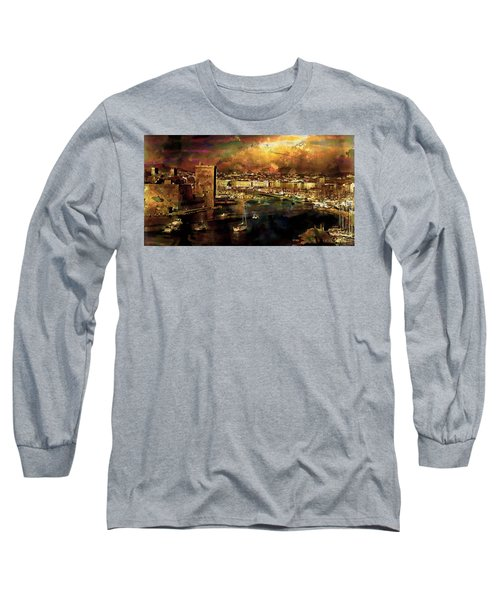 The Old Port Of Marseille Long Sleeve T-Shirt