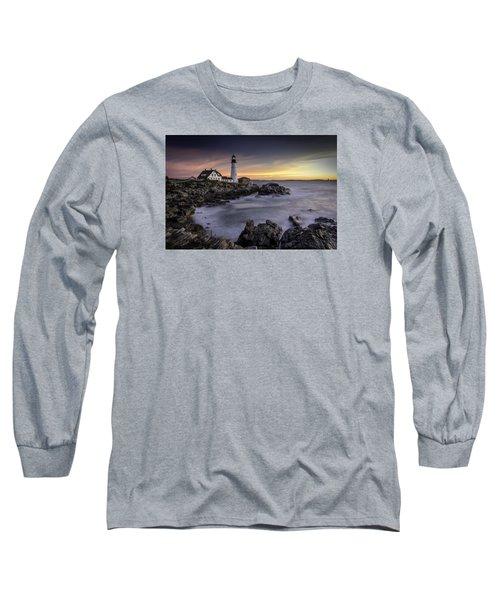Portland Head Light Long Sleeve T-Shirt by Fred LeBlanc