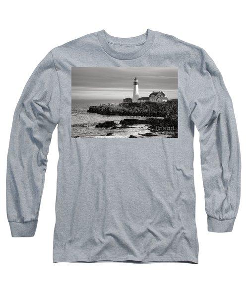Portland Head Light On Casco Bay Long Sleeve T-Shirt