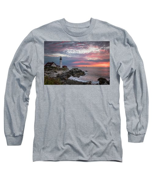 Portland Head Light Sunrise Long Sleeve T-Shirt