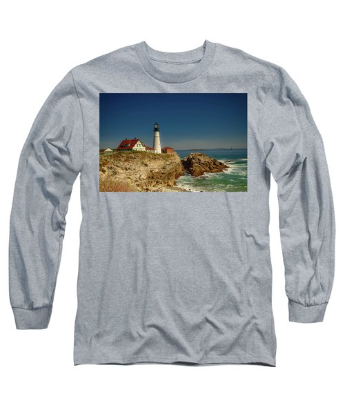 Portland Head Lighthouse 2 Long Sleeve T-Shirt by Sherman Perry