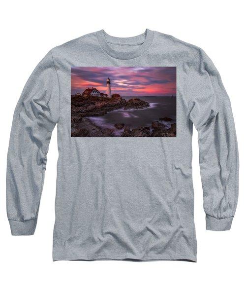 Portland Head Sunset Long Sleeve T-Shirt