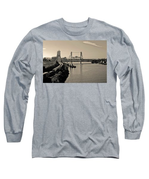 Portland Steel Bridge Long Sleeve T-Shirt