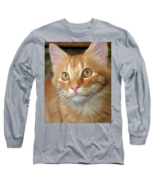 Portrait Of A Cat Long Sleeve T-Shirt