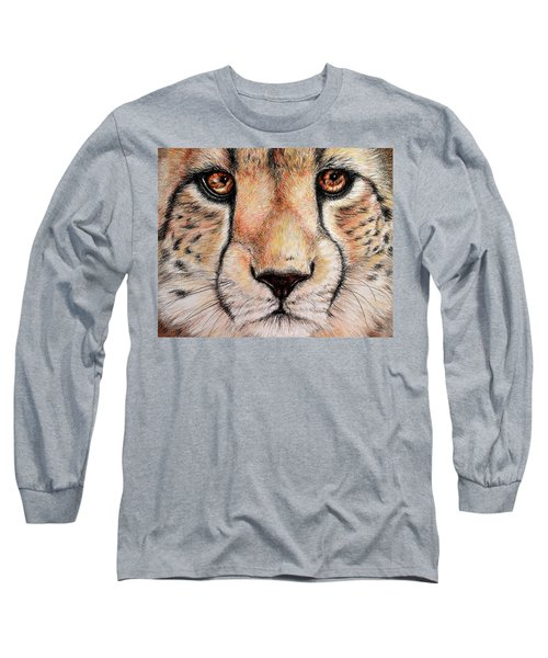 Portrait Of A Cheetah Long Sleeve T-Shirt