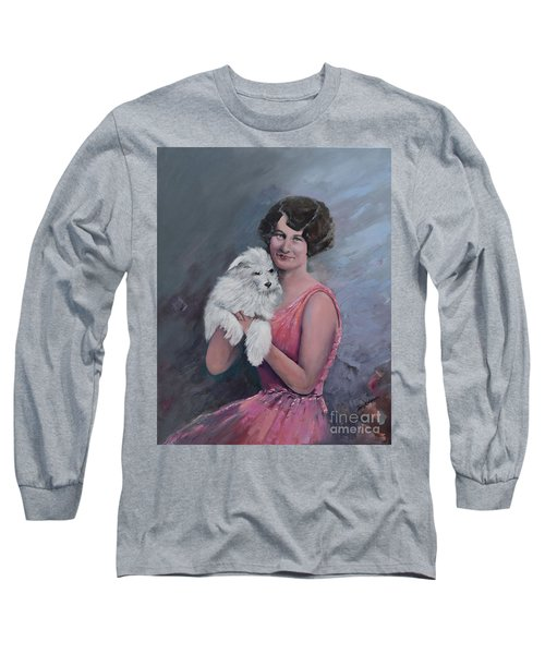 Maggie And Caruso -portrait Of A Flapper Girl Long Sleeve T-Shirt