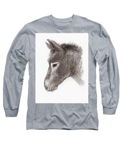 Portrait Of A Mule Long Sleeve T-Shirt