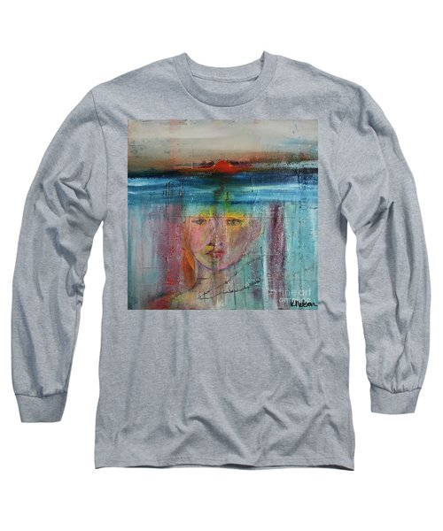 Portrait Of A Refugee Long Sleeve T-Shirt by Kim Nelson