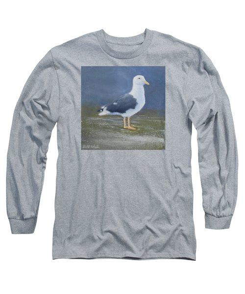 Portrait Of A Seagull Long Sleeve T-Shirt