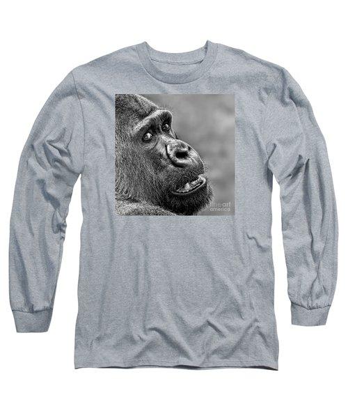 Portrait Of A Silverback Long Sleeve T-Shirt