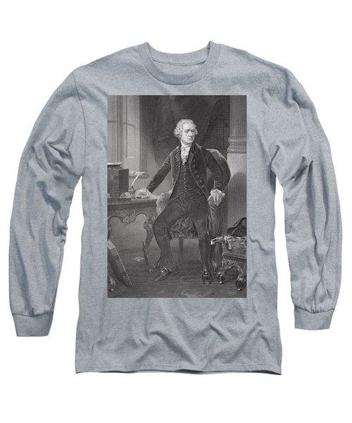 Portrait Of Alexander Hamilton Long Sleeve T-Shirt