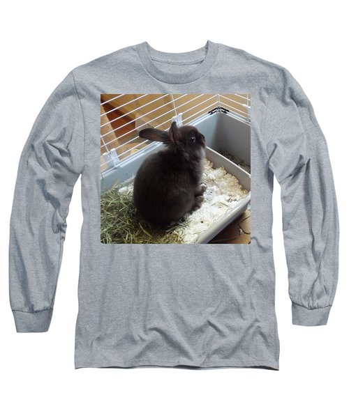 Long Sleeve T-Shirt featuring the photograph Portrait Of Bunbunz by Denise Fulmer