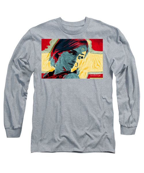 Portrait Of Emma Watson Long Sleeve T-Shirt