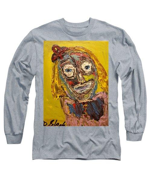 Portrait Of Finja Long Sleeve T-Shirt by Darrell Black