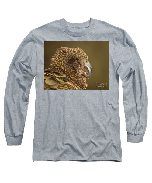 Portrait Of Kea Calling Long Sleeve T-Shirt by Max Allen
