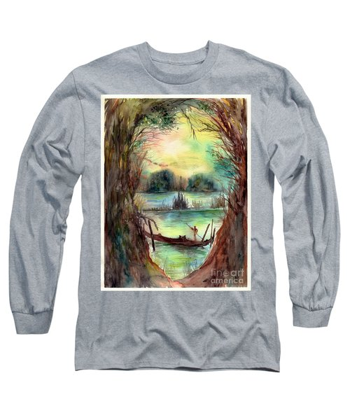 Portrait With A Boat Long Sleeve T-Shirt
