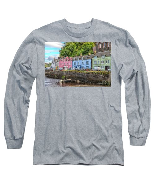 Portree Town On Skye, Scotland Long Sleeve T-Shirt