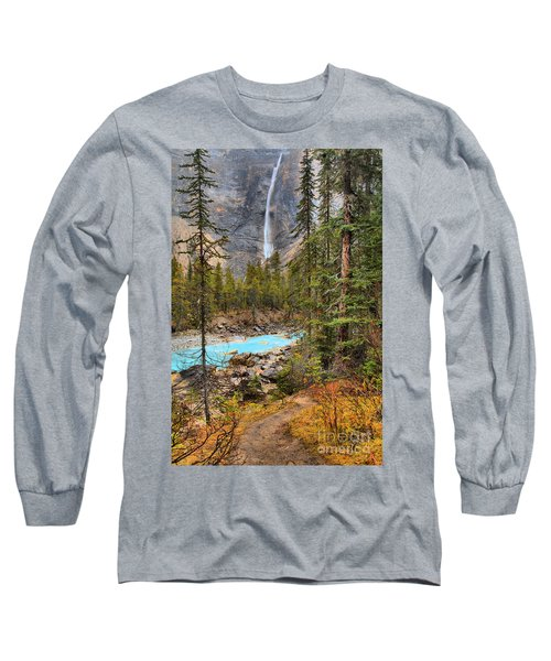 Long Sleeve T-Shirt featuring the photograph Portrait Of Takakkaw Falls by Adam Jewell