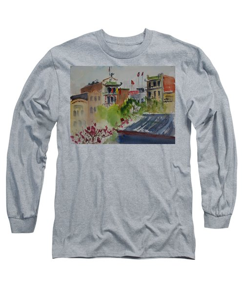 Portsmouth Square1 Long Sleeve T-Shirt by Tom Simmons