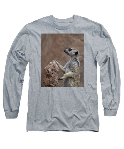 Pose Of The Meerkat Long Sleeve T-Shirt