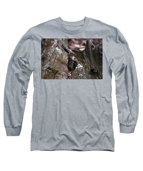 Long Sleeve T-Shirt featuring the photograph Posing #1 by Jeff Severson