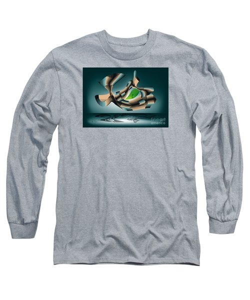 Long Sleeve T-Shirt featuring the digital art Position by Leo Symon