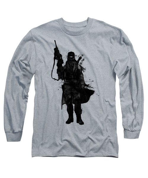 Long Sleeve T-Shirt featuring the digital art Post Apocalyptic Warrior by Nicklas Gustafsson