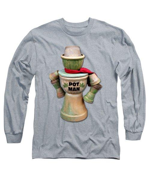 Pot Man T-shirt Long Sleeve T-Shirt