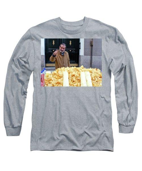 Potato Chip Man Long Sleeve T-Shirt