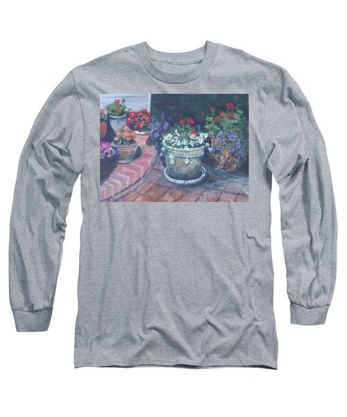 Potted Flowers Long Sleeve T-Shirt