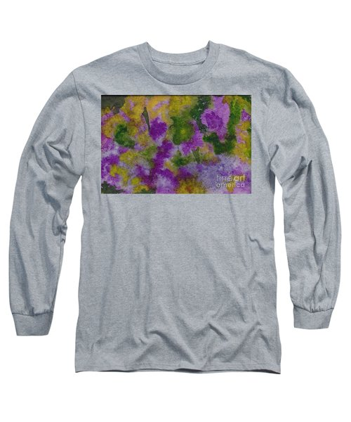 Long Sleeve T-Shirt featuring the painting Pouring Flowers by Vicki  Housel
